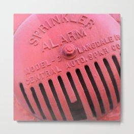 Old Red Sprinkler System Metal Print