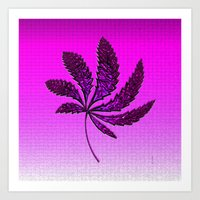 hot pink Art Prints featuring HOT Pink by Cherie DeBevoise