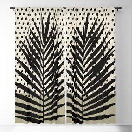 Minimal palm leaf art Blackout Curtain