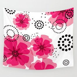 PEPPER POPPIES | fuschia Wall Tapestry