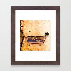 Monsieur Bone in the bathroom Framed Art Print