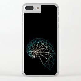 UNIVERSE 10 GREENISH Clear iPhone Case
