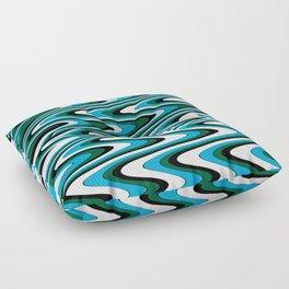 Blue green slur Floor Pillow
