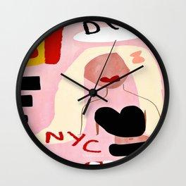 NYC DIVA, Abstract Home Decor, city art prints, Living Room Wall,Feminine Wall Clock