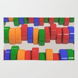 Colorful cylinders Rug