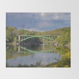 Summer Storm Clouds - Delaware River Throw Blanket