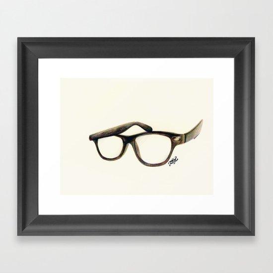 Hipster's Paradox Framed Art Print