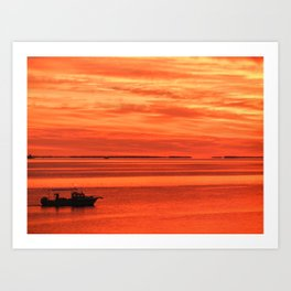 Early Bird Gets the Crab Art Print