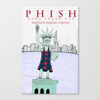 phish Canvas Prints featuring New Years Run by Steven Robinson