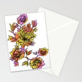 Rainbow Flowers Stationery Cards