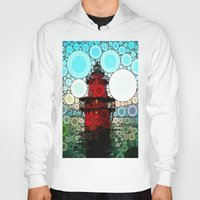 lighthouse Hoodies featuring Lighthouse by Thephotomomma