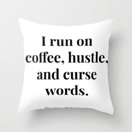 The Hustle Throw Pillow
