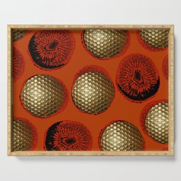 ORANGE RED GOLD Serving Tray