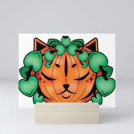 Puurfect Pumpkin Mini Art Print
