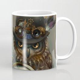 Sir Owl. Steampunk Coffee Mug