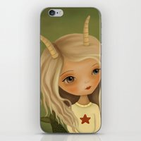 capricorn iPhone & iPod Skins featuring Capricorn by The Midnight Rabbit
