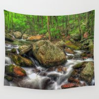 running Wall Tapestries featuring Running Cold by ThePhotoGuyDarren