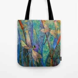 Colorful Dragonflies Tote Bag