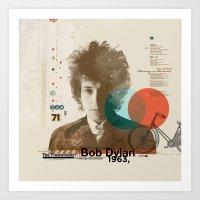 bob dylan Art Prints featuring Bob Dylan by Azlif