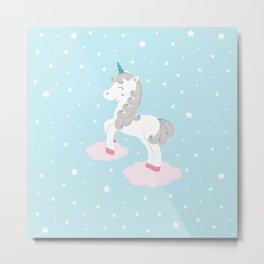 Magic unicorn Metal Print
