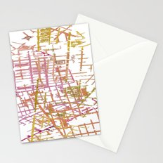 NYC Map lines Stationery Cards