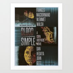 Blood Simple Art Print
