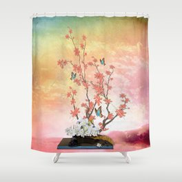 Ikebana Art Shower Curtain