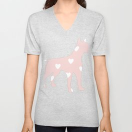 HEart dog Unisex V-Neck
