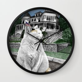 Mackinac Island Cat Wall Clock