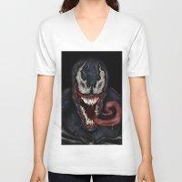 venom V-neck T-shirts featuring venom by Fila Venom Art