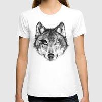 door T-shirts featuring The Wolf Next Door by florever