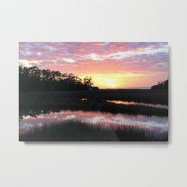 Sunset on Davis Bayou Metal Print