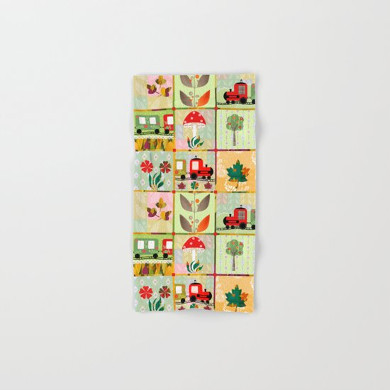 Children's Dominoes. Cubes. Hand & Bath Towel