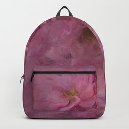 Pink flower painting - by Brian Vegas Backpack