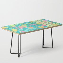 Bright Cherry Blossom Stripe Coffee Table