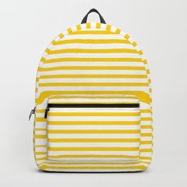 Yellow Candy Stripes Backpack