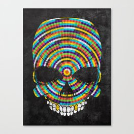 Hypnotic Skull Canvas Print