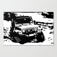 jeep Canvas Prints featuring Jeep by Bwoodstockfoto