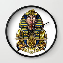 Egyptian Pharaoh Tutankhamun King Tut Wall Clock