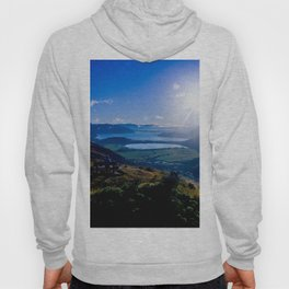 lake wanaka covered in blue colors new zealand beauties and mountains at sunrise Hoody