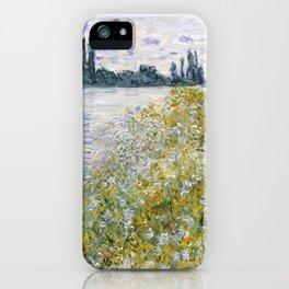 """Claude Monet """"Île aux Fleurs near Vétheuil"""" iPhone Case"""