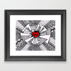 Power of Love... Framed Art Print