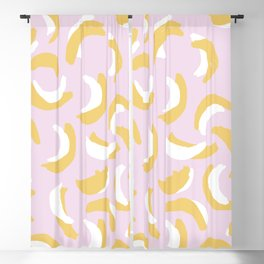 Banana dance party LA style poppy bright summer fruit Blackout Curtain