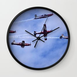 Red In The Sky Wall Clock