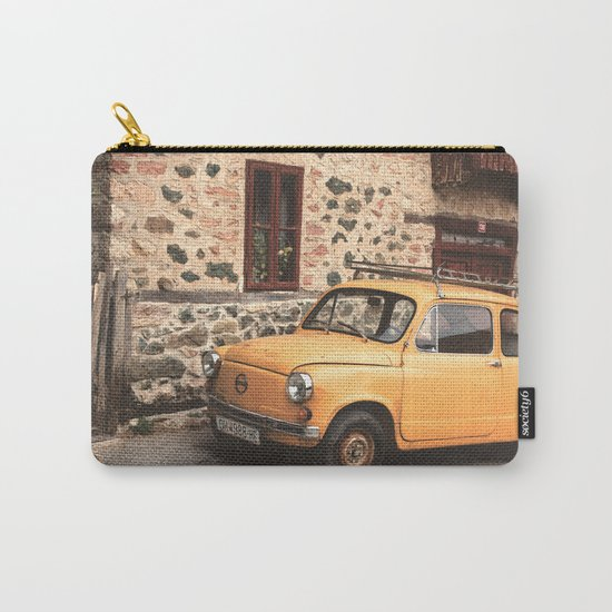 Yellow car vintage Carry-All Pouch