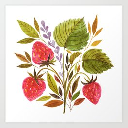 Early Summer Strawberries Are The Sweetest Art Print