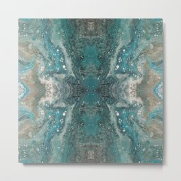 Turquoise, Acrylic on canvas Metal Print