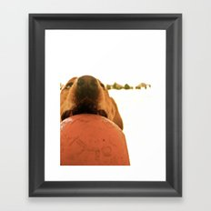 PLAY WITH ME Framed Art Print