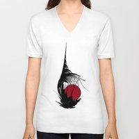 asian V-neck T-shirts featuring Asian Sun by Digital-Art
