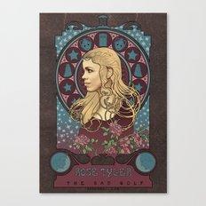 Rose Tyler art nouveau , Doctor Who , TARDIS Canvas Print